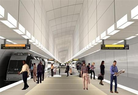 A rendering of the ARC Tunnel's proposed Penn Station platform expansion. REUTERS/NJ Transit/Port Authority of NY and NJ