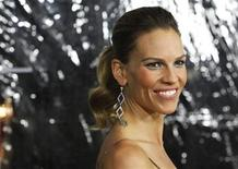 "<p>Cast member Hilary Swank poses at the premiere of ""Conviction"" at the Samuel Goldwyn theatre in Beverly Hills, California October 5, 2010. REUTERS/Mario Anzuoni</p>"