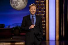 <p>Comedian Conan O'Brien is shown on stage during the premiere of his new late night talk show on TBS 'Conan'at the Warner Bros. Studios in Burbank, California November 8, 2010 in this publicity photograph released by TBS. REUTERS/Meghan Sinclair/ Conaco LL/TBS/Handout</p>