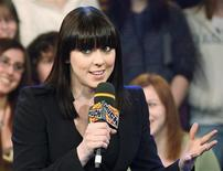 """<p>Melanie Chisholm, also known as Mel C of the British pop band """"The Spice Girls"""", is interviewed at the MuchMusic television station to promote her album """"This Time"""" in Toronto February 27, 2008. REUTERS/Mark Blinch</p>"""