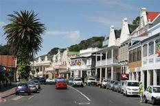 <p>Cars are parked along the historical Saint Georges street in Simon's Town, a suburb of Cape Town, October 1, 2010. REUTERS/Steve James</p>
