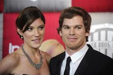<p>Jennifer Carpenter e Michael C. Hall nos Golden Globes de 2009, em Beverly Hills. O casal vai se divorciar, segundo a mídia norte-americana. 11/01/2009 REUTERS/Phil McCarten/Arquivo</p>