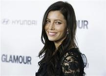<p>Actress Jessica Biel poses as she arrives for the Glamour Reel Moments event in Los Angeles, California October 25, 2010. REUTERS/Fred Prouser</p>