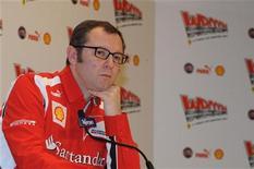 <p>Chefe da Ferrari, Stefano Domenicali, participa de coletiva de imprensa da Ferrari em Madonna di Campiglio, na Itália. Domenicali disse que a equipe lançará seu carro para a temporada 2011 de Fórmula 1 no dia 28 de janeiro em sua base em Maranello. REUTERS/Wroom 2011 Photo Service/Divulgação</p>