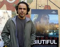 "<p>Alejandro Gonzalez Inarritu of Mexico, whose film ""Biutiful"" has been nominated for a Golden Globe for Best Foreign Language Film, poses in Hollywood, Los Angeles, California, January 15, 2011. REUTERS/Lucy Nicholson</p>"