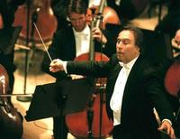 <p>Claudio Abbado conducts the Berlin Philharmonic Orchestra at the newly reopened Teatro Massimo in Palermo May 11. ITALY THEATRE</p>