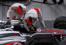 <p>McLaren apresenta em Berlim carro para a temporada 2011 da Fórmula 1. REUTERS/Thomas Peter</p>