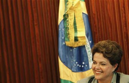 Brazil's President Dilma Rousseff attends a ministerial meeting at Planalto Palace in Brasilia January 14, 2011. REUTERS/Ricardo Moraes