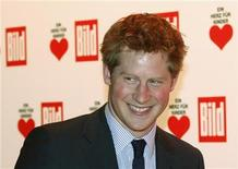 """<p>Britain's Prince Harry arrives for the """"Ein Herz fuer Kinder"""" (A Heart for Children) TV charity show in Berlin, December 18, 2010. REUTERS/Thomas Peter</p>"""