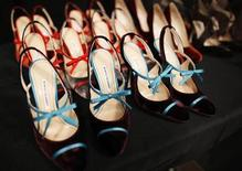 <p>Manolo Blahnik shoes are lined up backstage before the Carolina Herrera Fall/Winter 2011 collection show during New York Fashion Week February 14, 2011. REUTERS/Brendan McDermid</p>