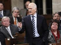<p>New Democratic Party leader Jack Layton speaks during Question Period in the House of Commons on Parliament Hill in Ottawa February 16, 2011. REUTERS/Chris Wattie</p>