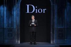<p>Sidney Toledano, Chief Executive of Dior, delivers a speech before British designer John Galliano's Fall-Winter 2011/2012 women's ready-to-wear fashion collection for French fashion house Dior during Paris Fashion Week March 4, 2011. REUTERS/Benoit Tessier</p>