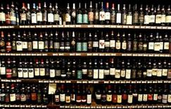 <p>Bottles of Brunello di Montalcino red wine are displayed at a wine shop in the Tuscan town of Montalcino in central Italy in this September 22, 2004 file photo. REUTERS/Max Rossi/Files</p>