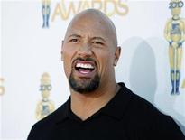 <p>Actor Dwayne Johnson arrives at the 2010 MTV Movie Awards in Los Angeles, June 6, 2010. REUTERS/Danny Moloshok</p>