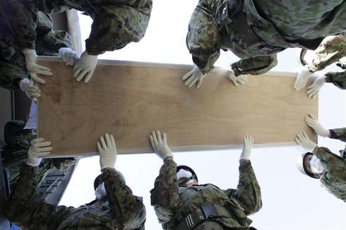 Burying Japan's dead