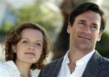 """<p>Cast members Elisabeth Moss (L) and Jon Hamm pose during a photocall to promote their television series """"Mad Men"""" at the annual MIPCOM television program market in Cannes, southeastern France, October 5, 2010. REUTERS/Eric Gaillard</p>"""