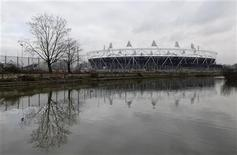 <p>The Olympic Stadium being constructed for the London 2012 Olympic games, is pictured in east London January 20, 2011. REUTERS/Eddie Keogh</p>