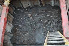 """<p>Archaeologists may have found more than a thousand bodies at a 16th century burial ground that served London's """"Bedlam"""" mental hospital. REUTERS/Crossrail/Handout</p>"""