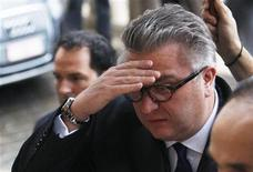 <p>Belgium's Prince Laurent arrives at a religious service (Te Deum) at the Sint-Gudule cathedral in honour of King's Day in Brussels November 15, 2009. REUTERS/Francois Lenoir</p>