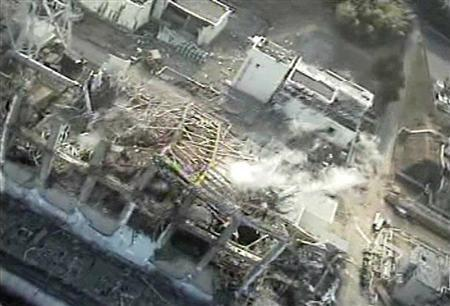 Tokyo Electric Power (TEPCO) Co.'s crippled Fukushima Daiichi Nuclear Power Plant No.3 reactor on April 10, 2011. REUTERS/Tokyo Electric Power Co/Handout