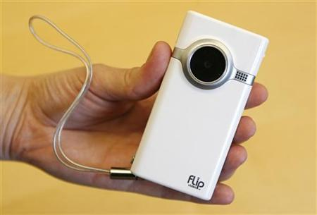 A Flip video camera in a file photo. Cisco will ditch its Flip division as it overhauls its troubled consumer business, following chief John Chambers' recent admission that the company had lost its way. REUTERS/Mike Segar