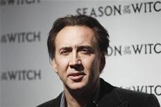 "<p>Foto de archivo del actor Nicolas Cage llegando al estreno del filme ""Season of the Witch"" en Nueva York. Ene 4, 2011. REUTERS/Lucas Jackson</p>"