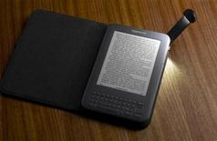 <p>The latest version of the Amazon Kindle e-book reader is shown in this undated publicity photo released to Reuters July 28, 2010. REUTERS/Amazon.com/Handout</p>