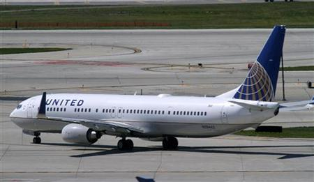 A United Airlines jet in a file photo. REUTERS/Frank Polich