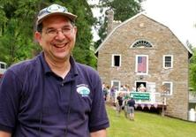 <p>Larry Luxenberg, president of the Appalachian Trail Museum Society, in front of the museum on opening day, June 5, 2010. REUTERS/Appalachian Trail Museum Society</p>