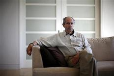 """<p>Писатель Филип Рот в Нью-Йорке 15 сентября 2010 года. Филип Рот, прославившийся благодаря своему роману """"Случай Портного"""", в среду выиграл присуждаемую раз в два года награду в мире литературы - международную Букеровскую премию. REUTERS/Eric Thayer</p>"""