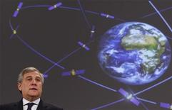 <p>European Transport Commissioner Antonio Tajani addresses a news conference on the Galileo navigation system at the EU Commission headquarters in Brussels January 7, 2010. REUTERS/Francois Lenoir</p>