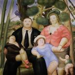 "<p>Fernando Botero's work titled ""A Family"" is shown in this undated handout photo from Sotheby's. REUTERS/Sotheby's/Handout</p>"