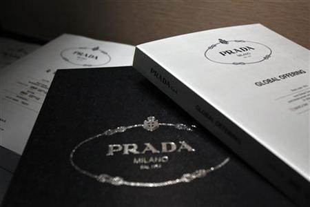 Brochures for Prada's global offering are shown during a news conference in Hong Kong June 12, 2011.REUTERS/Tyrone Siu