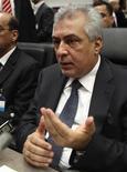 <p>وزير النفط العراقي عبد الكريم لعيبي في فيينا يوم 8 يونيو حزيران 2011. تصوير. هانز بادر - رويترز</p>