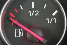 <p>A fuel gauge in a car shows empty, September 12, 2005. REUTERS/Toby Melville</p>
