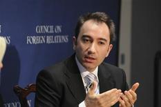"""<p>Writer Mustafa Akyol speaks during the Council on Foreign Relations 'Religion and the Open Society' Symposium In New York March 25, 2008 in this publicity photo released to Reuters July 13, 2011. Akyol's new book, """"Islam Without Extremes: A Muslim Case for Liberty,"""" which is being released in the United States on July 18, aims to tell people that there is a long history of freedom in the Islamic world. REUTERS/Don Pollard/Council on Foreign Relations/Handout</p>"""