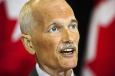 <p>New Democratic Party (NDP) leader Jack Layton speaks at a news conference in Toronto, July 25, 2011. REUTERS/Mark Blinch</p>