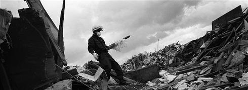 Tsunami aftermath on film