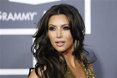<p>Kim Kardashian arrives at the 53rd annual Grammy Awards in Los Angeles, February 13, 2011. REUTERS/Danny Moloshok</p>
