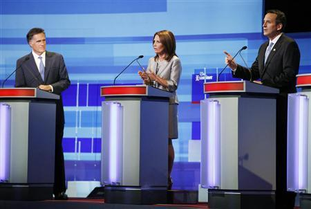 Bachmann, Pawlenty clash in heated debate