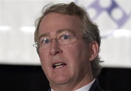 Aubrey McClendon, chairman and CEO of Chesapeake Energy Corporation, speaks at the Wharton Economic Summit in New York February 1, 2006. REUTERS/Chip East