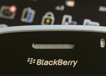 A Blackberry smartphone is displayed in this August 12, 2010 illustrative photo taken in Hong Kong. REUTERS/Bobby Yip