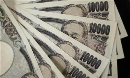 A picture illustration shows Japanese 10,000 yen notes featuring a portrait of Yukichi Fukuzawa, the founding father of modern Japan, taken in Tokyo August 2, 2011. REUTERS/Yuriko Nakao
