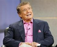"<p>Host Regis Philbin speaks at the panel for the NBC television show ""America's Got Talent"" during the ""Television Critics Association"" summer 2006 media tour in Pasadena, California, July 21, 2006. REUTERS/Mario Anzuoni</p>"