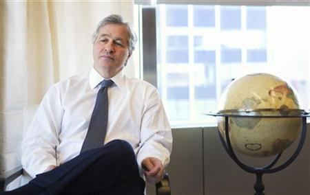 Jamie Dimon, CEO and chairman of JPMorgan Chase & Co., poses for a portrait in his office in New York, in this photo taken December 22, 2010. REUTERS/Lucas Jackson