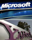 <p>Microsoft envisage de lancer une offre sur Yahoo, redevenant ainsi un acheteur potentiel du portail internet après une première tentative infructueuse en 2008, selon des sources proches du dossier. /Photo d'archives/REUTERS</p>