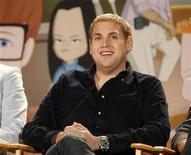 """<p>Jonah Hill, creator, executive producer and voice character of the new animated series """"Allen Gregory"""" speaks during a panel session at the FOX Summer TCA Press Tour in Beverly Hills, California August 5, 2011. REUTERS/Fred Prouser</p>"""