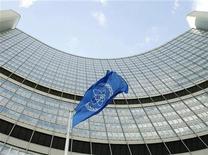 <p>Foto de archivo del edificio de la Agencia Internacional de Energía Atómica (IAEA, por su sigla en inglés), en Viena, ago 9 2005. El organismo nuclear de la ONU dijo el viernes que detectó niveles muy bajos de yodo radiactivo 131 en Europa, pero se cree que las partículas no suponen un riesgo para la salud pública. REUTERS/Heinz-Peter Bader</p>