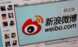 <p>Le site de weibo (microblogging). La Chine comptait 250 millions de microblogueurs en 2011, soit près de la moitié des internautes chinois. /Photo d'archives/REUTERS</p>