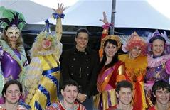 <p>Princess Stephanie of Monaco poses with members of Mayarov and Nikulin circus companies ahead of the opening of the 33nd International Circus Festival of Monte Carlo in Monaco, January 11, 2009. REUTERS/Jean-Pierre Amet</p>